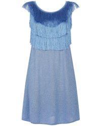 Missoni - Fringe Mini Dress - Lyst