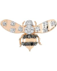 Bee Goddess - Diamond Queen Bee Earring - Lyst