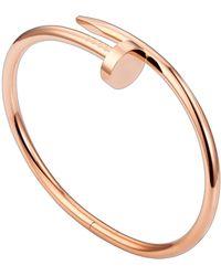 Cartier   Pink Gold Juste Un Clou Bracelet   Lyst