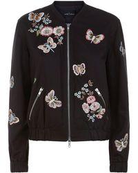 Needle & Thread - Butterfly Rose Bomber Jacket - Lyst