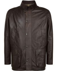 Barbour - Ashby Leather Jacket - Lyst