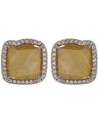 Susan Foster - Diamond Slice Pav Earrings - Lyst