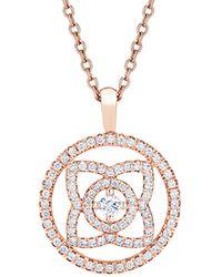 De Beers - Rose Gold And Diamond Enchanted Lotus Openwork Pendant - Lyst