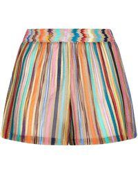 Missoni - Striped Knit Shorts - Lyst