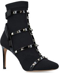 Valentino - Rockstud Bodytech Ankle Boots 105 - Lyst