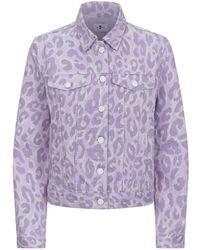 7 For All Mankind - Leopard Print Denim Jacket - Lyst