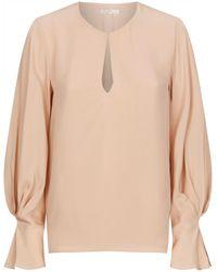 17081079352c9 Lyst - Joie Abekwa Silk Shirt in Pink