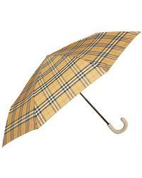 Burberry - Leather Handle Umbrella - Lyst