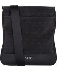 79950b62be7a Armani Jeans - Small Stash Logo Motif Shoulder Bag - Lyst