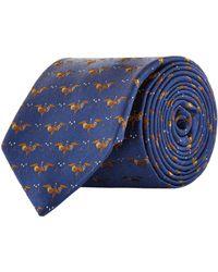Harrods - Jacquard Bird Tie - Lyst