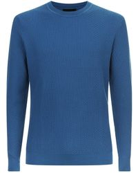 Armani - Zig Zag Texture Sweater - Lyst