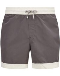 Brunello Cucinelli - Contrast Trim Swim Shorts - Lyst