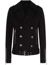 Balmain - Belted Wool Jacket - Lyst