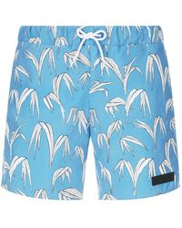 Sandro - Palm Print Swim Shorts - Lyst