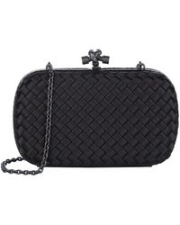 Bottega Veneta - Silk Chain Knot Clutch - Lyst