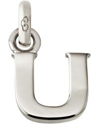 Links of London - Sterling Silver Letter U Charm - Lyst
