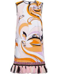 Emilio Pucci - Printed Terry Shift Dress - Lyst