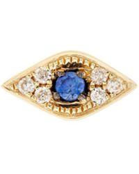 Sydney Evan - Diamond Mini Evil Eye Stud Earring - Lyst