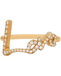 Stephen Webster - Yellow Gold And Pav Diamond Love Ring - Lyst