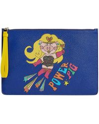 e045d8408370 Dolce   Gabbana - Year Of The Pig Leather Pouch - Lyst