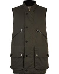 Burberry - Check Lined Gilet - Lyst