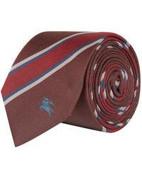 Burberry - Striped Silk Tie - Lyst