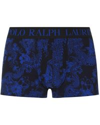 Lyst - Polo Ralph Lauren Candy Shop Stretch-cotton Trunks in Green ... a9a16d40c427