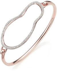 Monica Vinader - Large Riva Pod Hook Bangle - Lyst