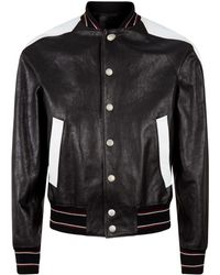 Givenchy - Leather Varsity Bomber Jacket - Lyst
