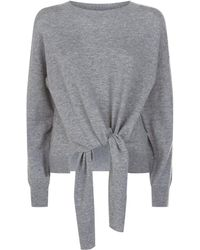 FRAME - Twist Front Knitted Jumper - Lyst