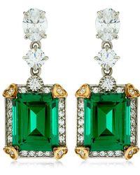 Carat* - 4ct Emerald Cut Drop Earrings - Lyst