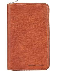 Brunello Cucinelli - Leather Travel Case - Lyst