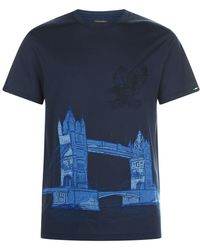 Stefano Ricci - Tower Bridge Embroidery T-shirt - Lyst