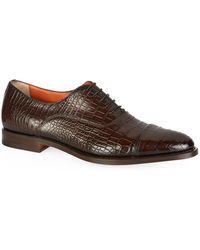 Santoni - Croc Oxford Shoe - Lyst