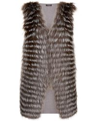 Harrods - Fox Fur Cashmere Gilet - Lyst