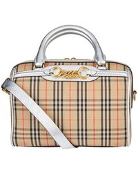 Burberry - Small 1983 Check Link Bowling Bag - Lyst