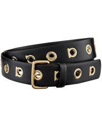 Ferragamo - Leather Gancio Logo Belt - Lyst