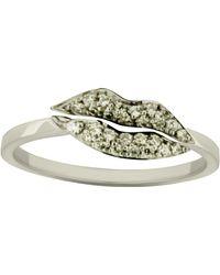 Delfina Delettrez - Kiss Me Diamond Ring - Lyst