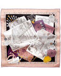 Cartier - Pink 13 Rue De La Paix Motif Scarf - Lyst