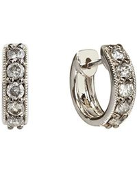 Annoushka - Dusty Diamonds Mini Hoop Earrings - Lyst