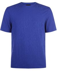 Armani - Crinkled Effect T-shirt - Lyst