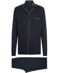Hanro - Notched Collar Pyjama Set - Lyst
