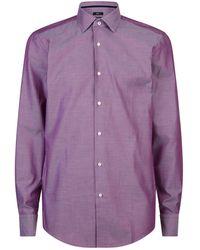 BOSS - Micro Birdseye Print Shirt - Lyst
