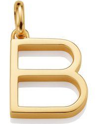 Monica Vinader - Gold Capital B Pendant - Lyst