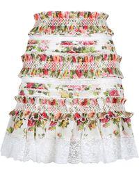 Zimmermann - Radiate Floral Mini Skirt - Lyst