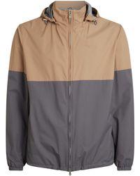 Brunello Cucinelli - Colour Block Hooded Jacket - Lyst