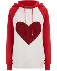Burberry - Heart Intarsia Hoodie - Lyst