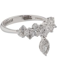 YEPREM White Gold And Diamond Fusion Of Dreams Crown Ring