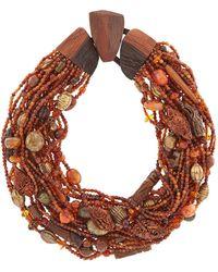 Eskandar - Beaded Necklace, Brown - Lyst