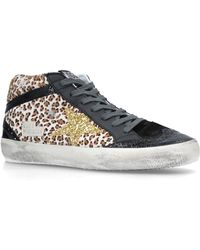 de62c668865e Lyst - Golden Goose Deluxe Brand Mid Star F86 Leather And Suede ...